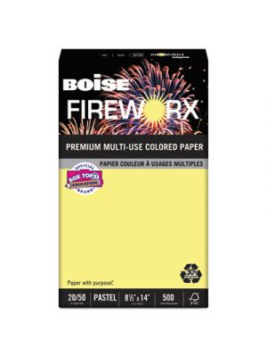 FIREWORX Colored Paper, 20lb, 8-1/2 x 14, Crackling Canary, 500 Sheets/Ream