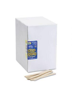 Natural Wood Craft Sticks, 4 1/2 x 3/8, Wood, Natural, 1000/Box