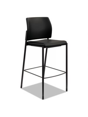 Accommodate Series Cafe Stool, Black, Base: Black