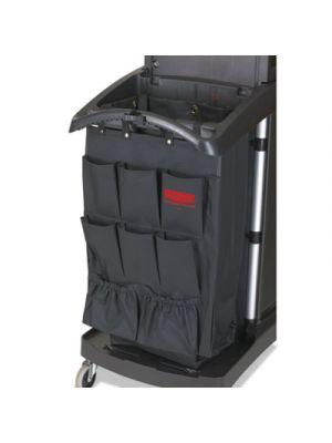 Fabric 9-Pocket Cart Organizer, 19 3/4w x 28d x 1 1/2h, Black, 6/Carton