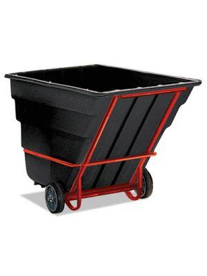 Rotomolded Tilt Truck, Rectangular, Plastic, 2300-lb Cap., Black