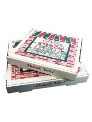 Pizza Boxes, Kraft, 8 x 8, White, 50/Carton