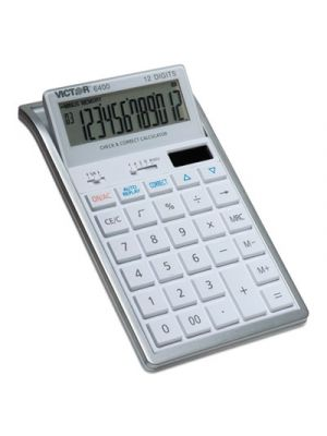 6400 Desktop Calculator, 12-Digit LCD