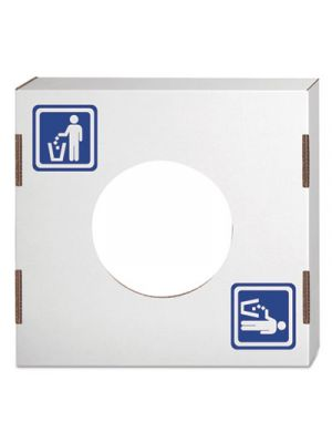 Waste and Recycling Bin Lid, General Waste, White, 10/Carton