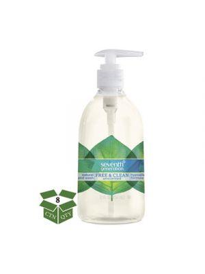 Natural Hand Wash, Free & Clean, Unscented, 12 oz Pump Bottle, 8/CT