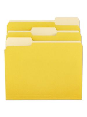 File Folders; 1/3 Cut One-Ply Top Tab; Letter; Yellow/Light Yellow; 100/Box