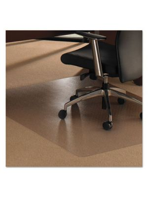 Cleartex Ultimat XXL Polycarb. Square General Office Mat F/Carpets,60x60,Clear