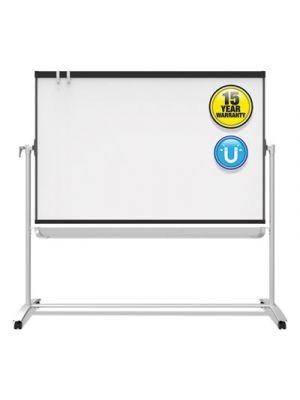 Prestige 2 Mobile Presentation Easel,  6 ft x 4 ft, Silver/Graphite