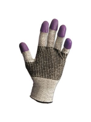 G60 NITRILE Cut-Resistant Glove, 260mm Length, 2XL/SZ 11, Blk/Wht/Prple,12 PR/CT