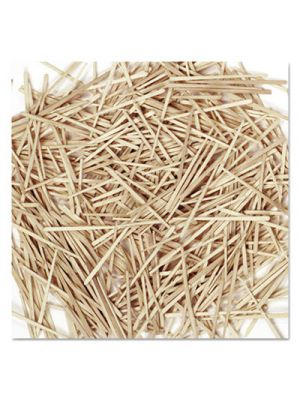 Flat Wood Toothpicks, Wood, Natural, 2500/Pack