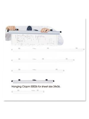 Sheet File Hanging Clamps, 100 Sheets Per Clamp, 24