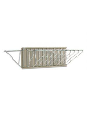 Sheet File Pivot Wall Rack, 12 Hanging Clamps, 24w x 14 3/4d x 9 3/4h, Sand