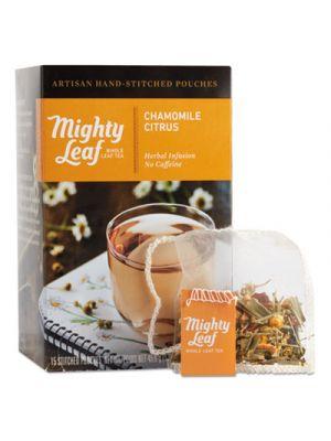 Whole Leaf Tea Pouches, Chamomile Citrus, 15/Box