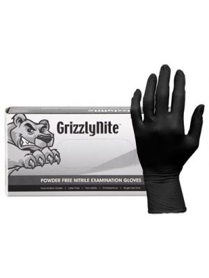 ProWorks GrizzlyNite Nitrile Gloves, Black, X-Large, 1000/CT