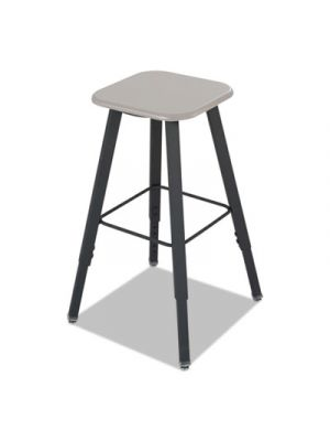 AlphaBetter Adjustable-Height Student Stool, Beige/Black, MDF