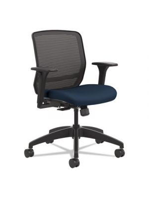 Quotient Series Mesh Mid-Back Task Chair, Navy/Black , Base: Black