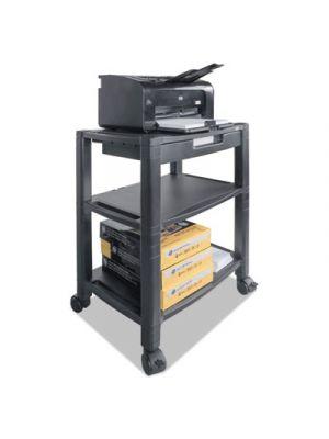 Mobile Printer Stand, Three-Shelf, 20w x 13 1/4d x 24 1/2h, Black