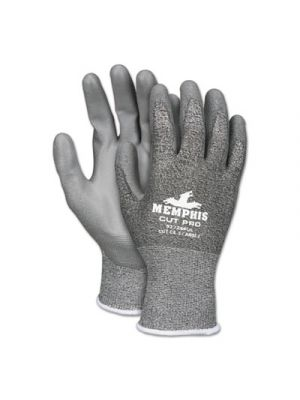 Memphis Cut Pro 92728PU Glove, Black/White/Gray, X-Large, Dozen