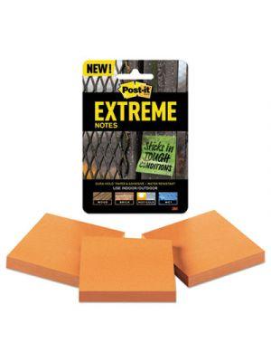 Water-Resistant Self-Stick Notes, Orange, 3