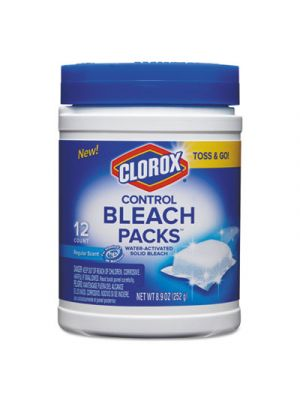 Control Bleach Packs, Regular, 12 Tabs/Pack, 6 Packs/Carton