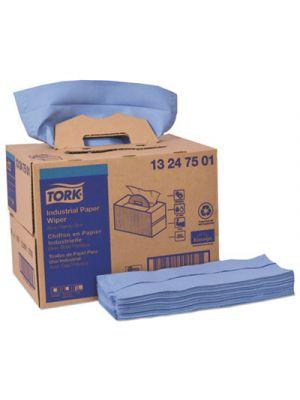 Industrial Paper Wiper, 8.54 x 16.5, Blue, 90/Box