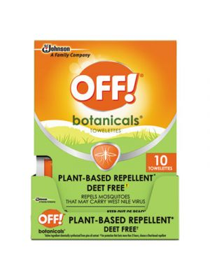Botanicals Insect Repellant, Box, 10 Wipes/Pack, 8 Packs/Carton