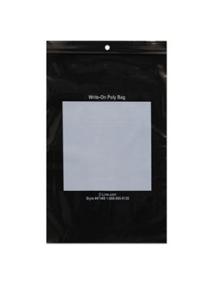 Write-On Poly Bags, 2 mil, 6