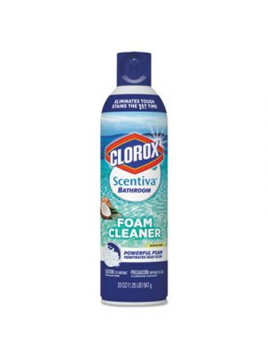 Scentiva Bathroom Foam Cleaner, Pacific Breeze & Coconut, 20 oz Aerosol, 6/CT