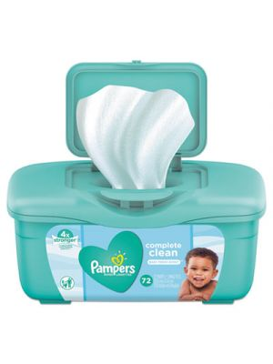 Complete Clean Baby Wipes, 1 Ply, Baby Fresh, 72 Wipes/Tub