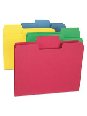 SuperTab Colored File Folders, 1/3 Tab, Letter, Assorted Colors, 24/PK