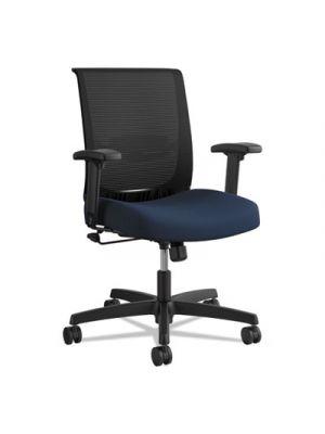 Convergence Mid-Back Task Chair, Navy/Black, Base: Black