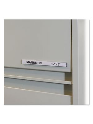 HOL-DEX Magnetic Shelf/Bin Label Holders, Side Load, 1/2