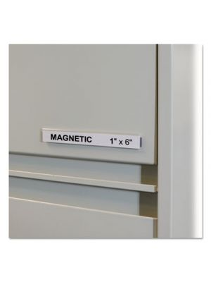 HOL-DEX Magnetic Shelf/Bin Label Holders, Side Load, 1