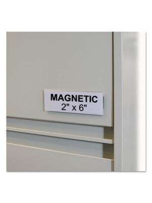 HOL-DEX Magnetic Shelf/Bin Label Holders, Side Load, 2
