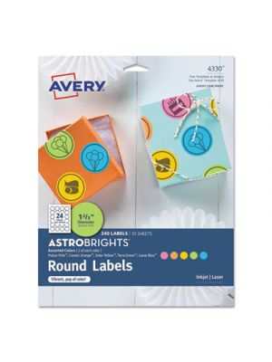 Color Easy Peel Labels, 1 2/3