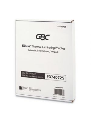 EZUse Thermal Laminating Pouches, 3 mil, 8 1/2