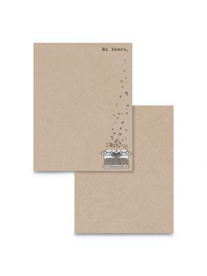 Pre-Printed Paper, 24 lb, 8 1/2 x 11, Kraft, 75 Sheets/RM