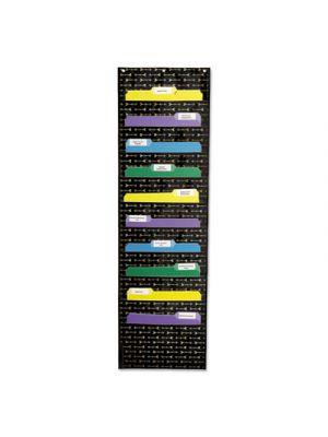 Storage Pocket Chart, 10 Pockets, 14 x 47, Black