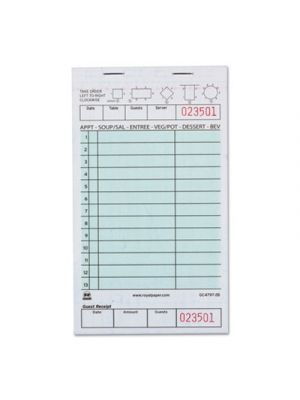 Guest Check Book, Two-Part Carbonless, 4 1/5