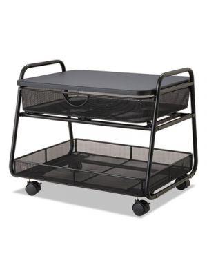 Onyx Under Desk Machine Stand, 2 Shelves, 21w x 16d x 17.5h, Black, 100 lbs Cap.