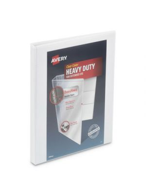 Heavy-Duty View Binder w/ DuraHinge and Locking One Touch Slant Rings,1/2