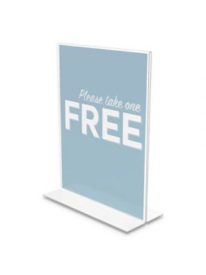 Classic Image Stand-Up Double-Sided Sign Holder, 8 1/2