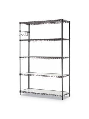 5-Shelf Wire Shelving Kit, 5 Shelves, 48