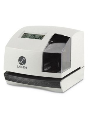 100E Time Clock and Stamp, White