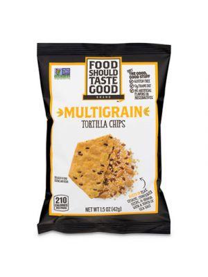 Tortilla Chips, Multigrain with Sea Salt, 1.5 oz, 24/Carton