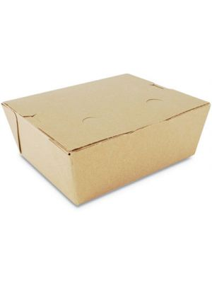 ChampPak Retro Carryout Boxes, 6w x 4 3/4d x 2 1/2h, Kraft, 300/Carton