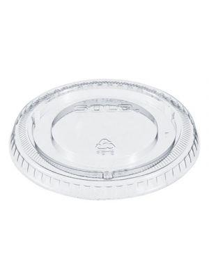 PETE Plastic Flat Straw-Slot Cold Cup Lids, Fits 12 oz Cups, Clear, 2500/Carton