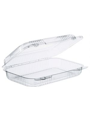 StayLock Clear Hinged Lid Containers, 9.4 x 6.8 x 2.1, Clear, 250/Carton