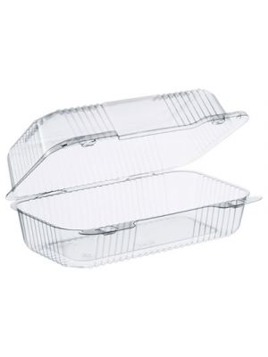 StayLock Clear Hinged Lid Containers, 5.4 x 9 x 3.5, Clear, 250/Carton