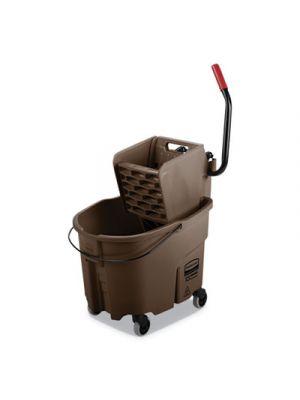 WaveBrake 2.0 Bucket/Wringer Combos, Side-Press, 8.75 gal, Plastic, Brown